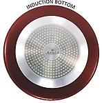 Aristo 3mm Nonstick Deep Kadhai 2.2 ltr induction bottom