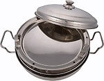 KITCHEN CARE 3 in1 Induction Base Stainless Steel Multi Kadhai