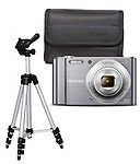 Sony Cybershot W810 20.1mp Combo With Lightweight Aluminum Tripod