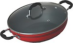 Alda Hard Anodised Aluminium Wok Pan or Kadhai
