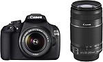 Canon EOS 1200D Dual Kit (EF S18-55 IS II & EF S55-250 IS II) - Black
