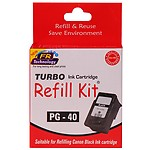 Turbo Refill Kit For Canon 40 Black Ink Cartridge