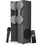 Sansui WaveBlast 2 Karaoke Compatible, Thunder Bass, Stereophonic Sound 84 W Bluetooth Tower Speaker( 2.0 Channel)