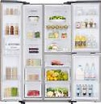 Samsung 689 L Frost Free Side by Side Inverter Technology Star Refrigerator (Gentle RS73R5561F8)