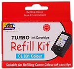 Turbo Refill Kit For Canon 831 Colour Ink Cartridge