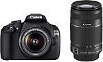 Canon EOS 1200D (Kit with 8 GB Card & Bag EF S18-55 IS II+55-250mm IS II) DSLR Camera