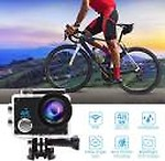Duende 4K Wifi 4K WiFi Action Camera HD 1080P 16MP Camera Waterproof Ultra Wide-Angle Camera with Accessories Sports and Action Camera( 16 MP)