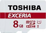 Toshiba Exceria 8 GB MicroSDHC UHS Class 1 48 MB/s Memory Card