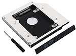 Buyyart New 12.7mm Universal SATA 2nd HDD SSD Hard Drive Caddy for CD/DVD-ROM Optical