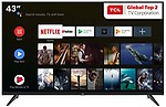 TCL 108 cm (43 inches)  AI 4K UHD Certified Android Smart LED TV 43P8 (2019 Model)