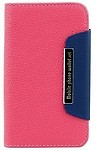 RKA Leather Wallet Flip Cover for Moto X XT1055 - Pink