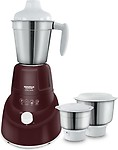 Maharaja Whiteline Mg Turbo Twist (MX- 174) 750 W Mixer Grinder(Burgundy Color, 3 Jars)