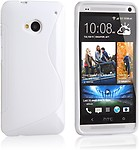 Cubix S Line Soft TPU Gel Case Cover Skin for LG Google Nexus 5 - White