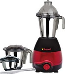 M I SUMEET DOMESTIC PLUS 2010 750 W Mixer Grinder(RED AND 3 Jars)