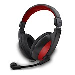 Amkette FDD267 Truchat Boomer Wired Headset (Black & Red)