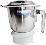 Damurhu Sujata Flat Jar Attach Ment Motor Steel Grinder Jar (Large)