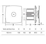 Havells Vento Jet-10 Auto Inox 100mm Exhaust Fan