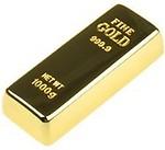 Quace Stylish Gold Bar Usb Pen 16 GB Pen Drive