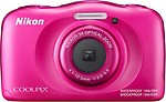 Nikon Coolpix W100 Point and Shoot Camera(Pink 13 MP)