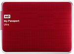 WD Passport Ultra 2.5 inch 1 TB External Hard Drive (Red)