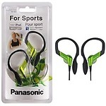 Panasonic Sports Gym Earphone Headphone for iPods, MP3 RP-HS33E-D