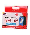 Turbo Refill Kit For Hp 22 Colour Ink Cartridge