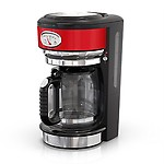 Russell Hobbs Retro Style 8-Cup Coffeemaker, Red & CM3100RDR