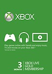 Xbox Live 3 Month Gold Membership Card (Games, Xbox 360)