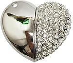Zeztee Heart Shape Fancy Jewellery Style 16 GB Pen Drive