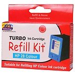 Turbo Refill Kit For Hp 28 Colour Ink Cartridge