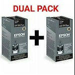 Epson T7741 DUAL PACK Black Ink Bottle 140+140 ml