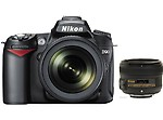 Nikon D90 Combo With 18-105 Lens+ 50mm F/1.8G Lens, black