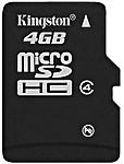 Kingston 4GB Sdc4/4GB Micro Sdhc Flash Card