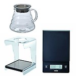 Hario V60 Series Drip Station, Scale and Glass Kettle All Sold Together
