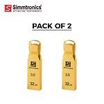 Simmtronics 16GB USB 3.0 Flash Drive Metal Body