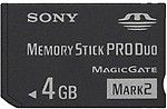 Sony PRO Duo MARK2 MS-MT4G (4 GB) Memory Card
