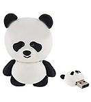 Microware 32GB Panda Rubber Shape Designer Fancy Pen Drive