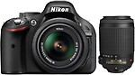 Nikon D5200 with (AF-S 18 - 55 mm VR II + AF-S 55 - 200 mm ED VR II Kit Lens) DSLR Camera