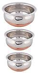 ROYAL sapphire stainless steel handi set 4 copper at bottom
