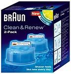 Braun Clean & Renew 2 Cartridges 5.7 oz each