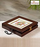 Rosewood finish Marble Jewellery Box