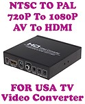 Gadget Hero Video Converter 720P/1080P AV + HDMI To HDMI Conversion Built in NTSC to PAL (Black)