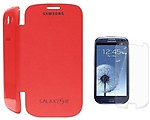 Leaf Flip Cover for Smasung Galaxy S3/I9300- Red