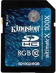 Kingston ULTIMATE X 8 GB SDHC Class 10 22 MB/s Memory Card