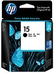 HP 15 Black Ink Cartridge (Black)