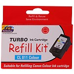 Turbo Refill Kit For Canon 811 Colour Ink Cartridge