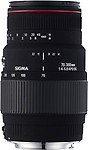 Sigma Lens 70 ~ 300 4-5.6 Apo Dg Macro For Nikon Hood And Case