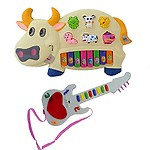 New Pinch Combo of Cow Musical Piano and Musical Mini Guitar