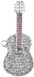 Microware Silver Metal Guitar Shape 16 GB Pen Drive
