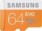 SAMSUNG Evo 64 GB MicroSDXC Class 10 48 MB/s Memory Card